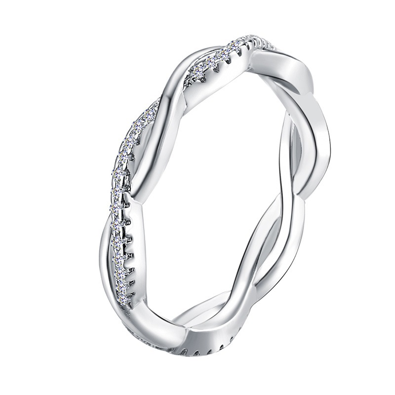 Ericdress Twist Diamate Rings