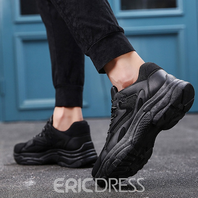 Ericdress Patchwork Lace-Up Men's Althletic Shoes