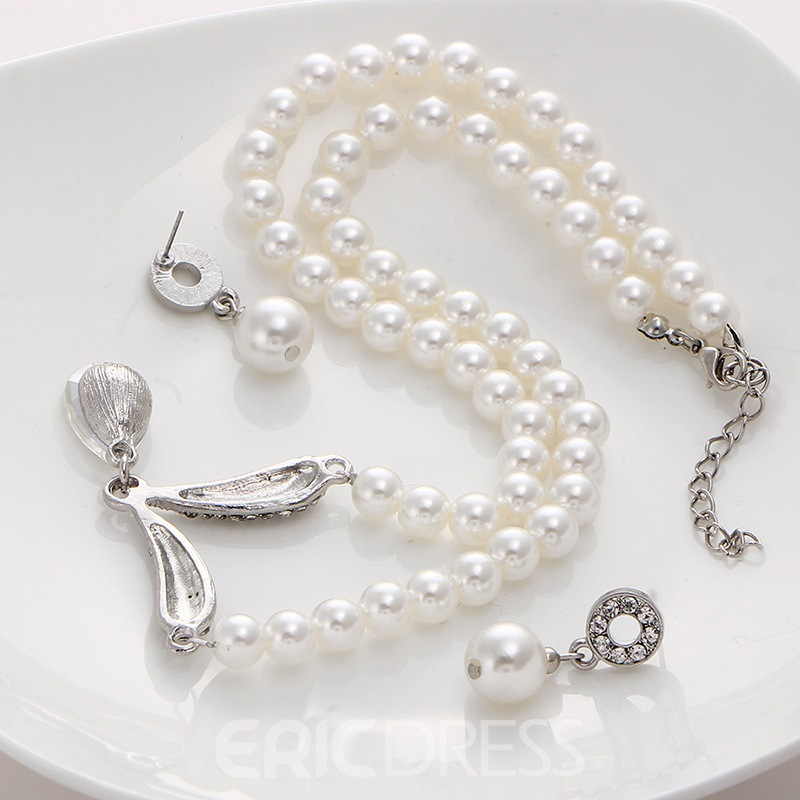 Ericdress Pearl Wedding Bride Jewelry Sets