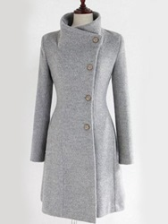Ericdress Plain Belt Mid-Length Single-Breasted Casual Coat фото