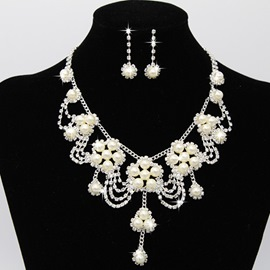 Ericdress Pearl Flower Jewelry Set