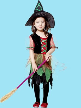 Ericdress Patchwork Mesh See-Throuh Girl's Cosplay Halloween Costumes