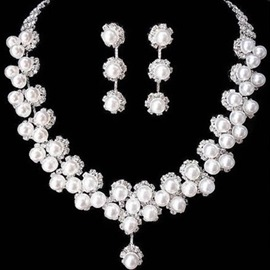 Ericdress Pearl Flower Wedding Jewelry Set