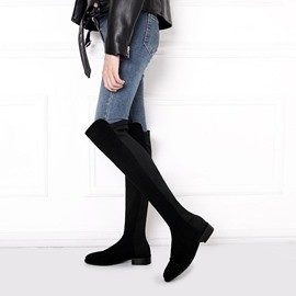 Ericdress Round Toe Bloxk Heel Over The Knee Boots