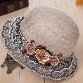 ericdress flower bucket hat para mujeres