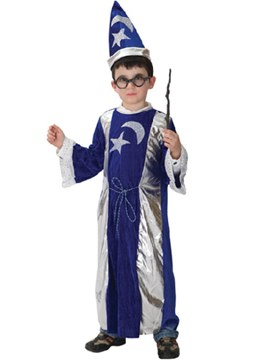 Ericdress Patchwork Color Block Wizard Boy's Cosplay Outfits