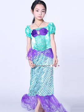 Ericdress Mesh Patchwork Mermaid Girl's Halloween Costumes