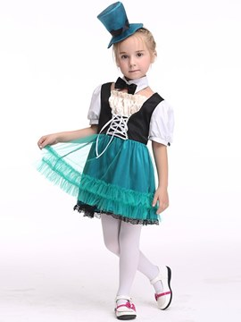 Ericdress Color Block Square Neck Girl's Halloween Costumes