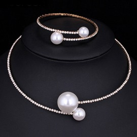 Ericdress Pearl Wedding Jewelry Set