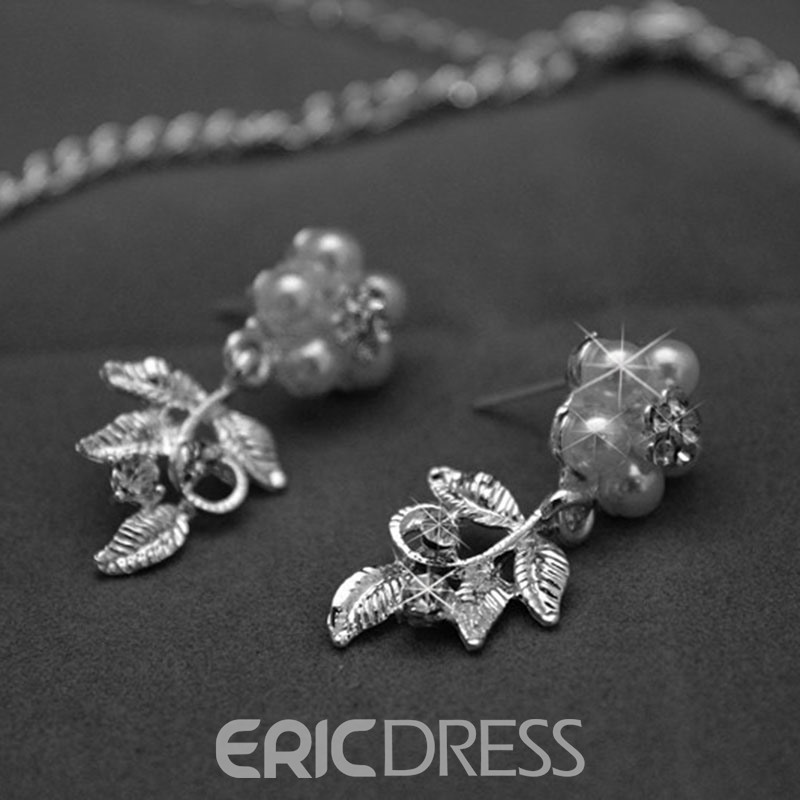Ericdress Silver Wedding Jewelry Set