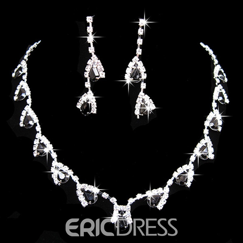 Ericdress Color Crystal Shining Jewelry Set