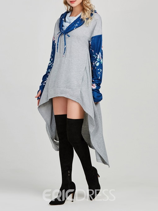 Ericdress Heap Collar Casual Loose Cool Hoodie