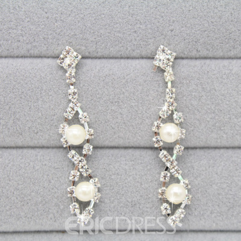 Ericdress Double Multilayer Pearl Wedding Jewelry Set
