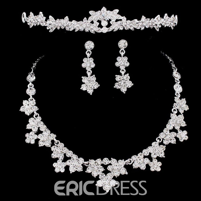 Ericdress Wedding Floral Crystal Jewelry Set