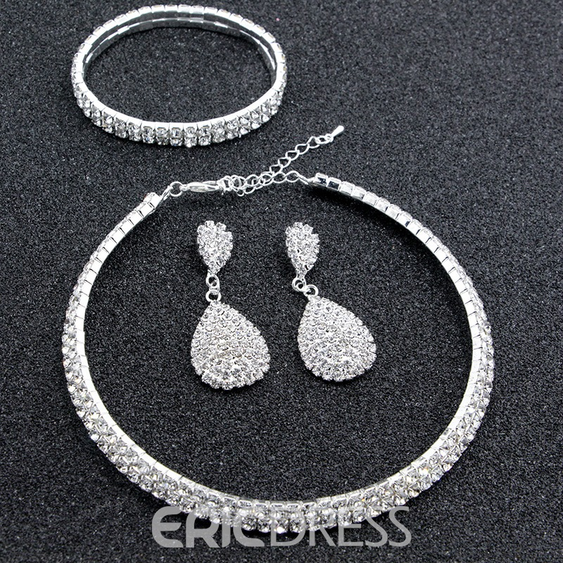 Ericdress Wedding Full Rhinestone Ring Jewelry Set