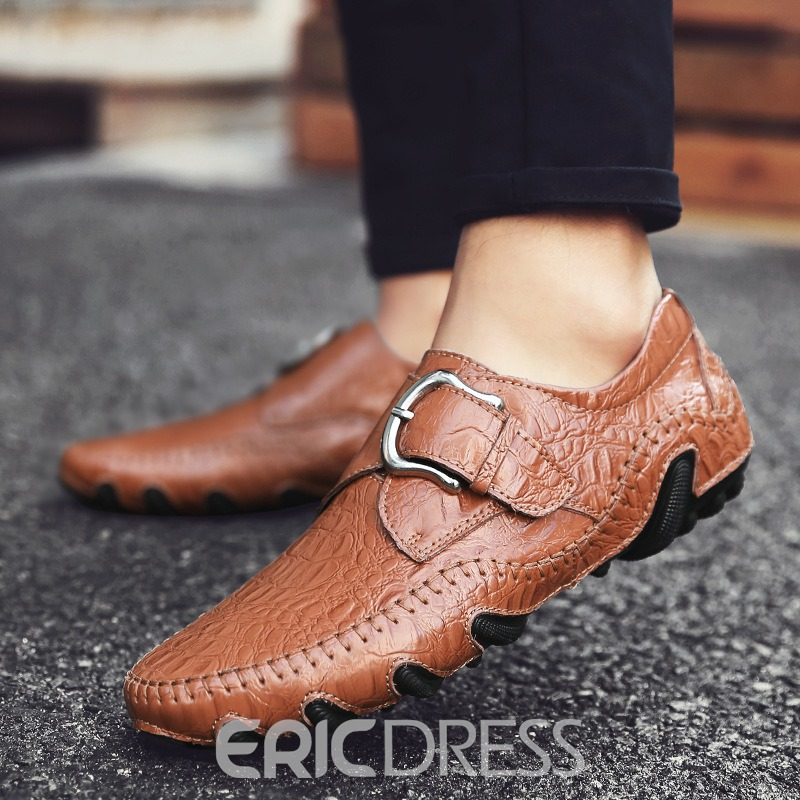 ericdress runde Zehe Slip-on Herrenschuhe