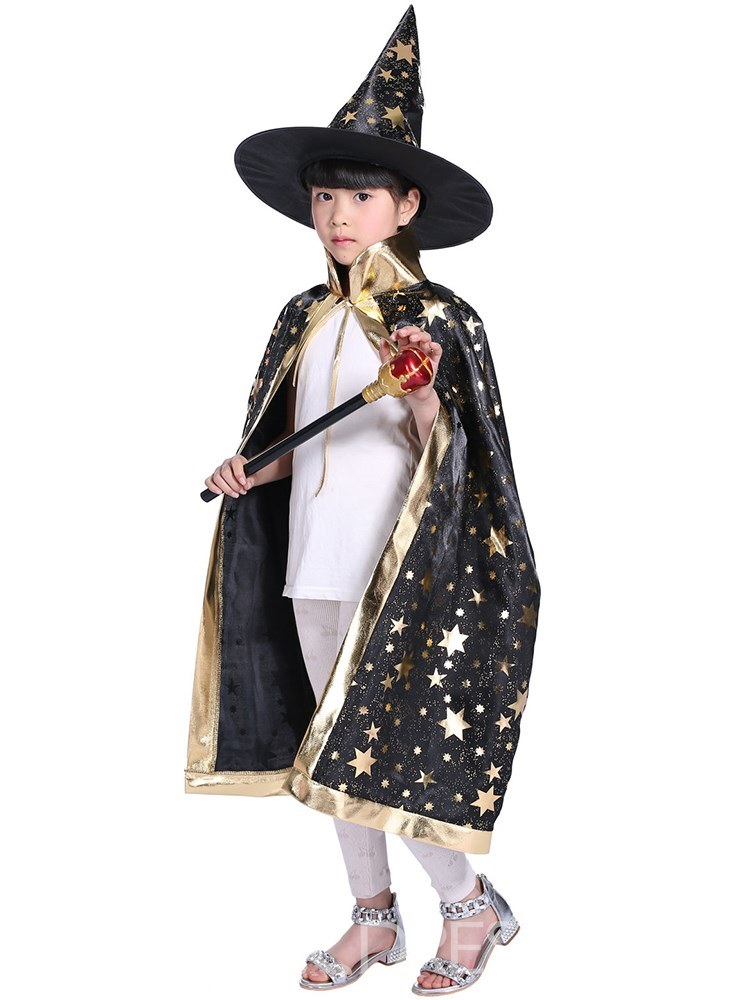 Ericdress Geometric Printed Wizard Kid's Cloak