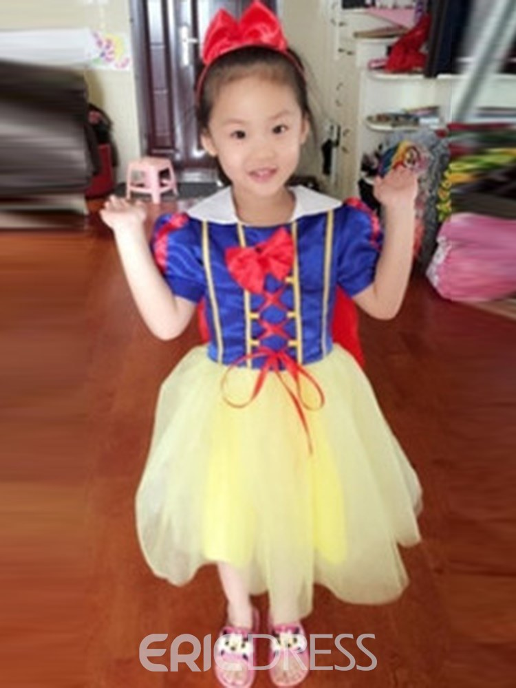 Ericdress Color Block Snow White Girl's Princess Halloween Costumes