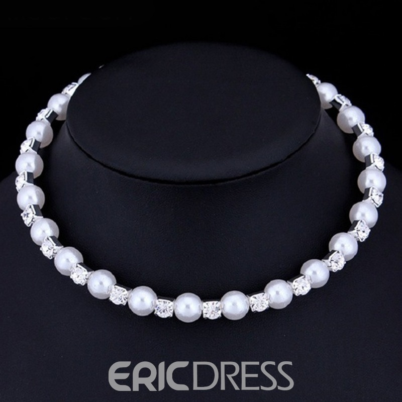 ericdress 8mm pearl wedding jewelry set