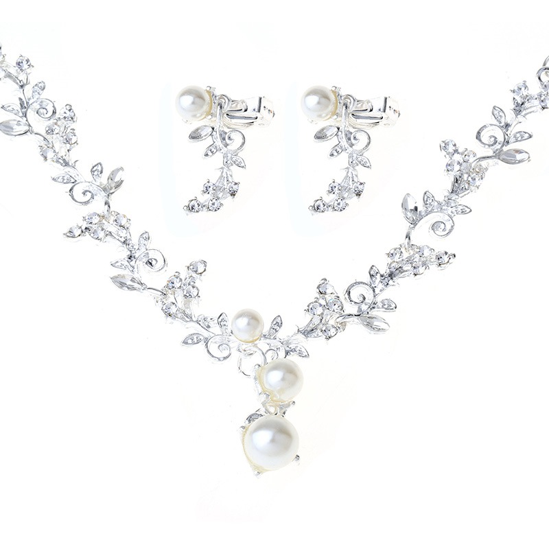 Ericdress Wedding Pearl Silver Jewelry Set