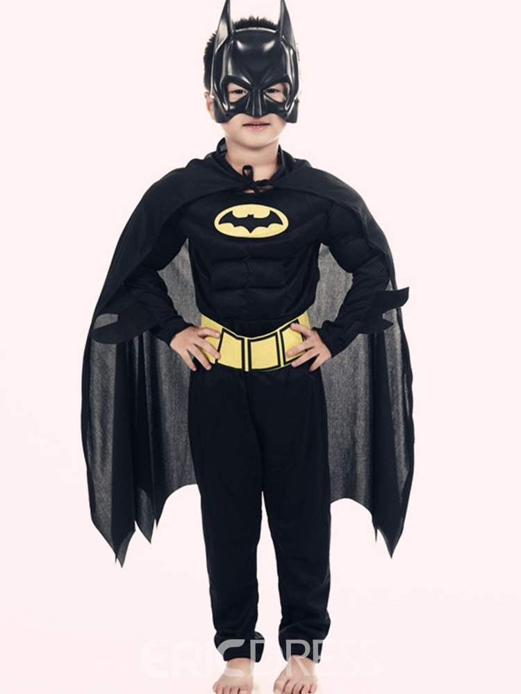 Ericdress Color Block Pullover Batman Boy's Cosplay Outfits