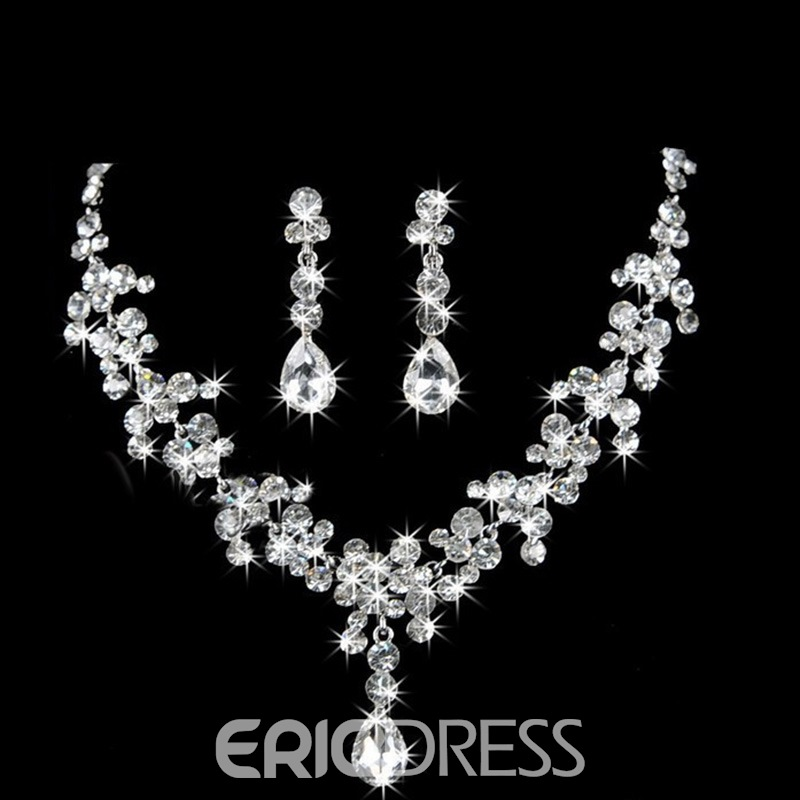 Ericdress Color Crystal Jewelry Set