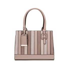 Ericdress Patchwork Stripe Zipper Women Handbag
