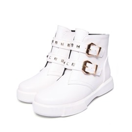 Ericdress Rivet Round Toe Women's Boots