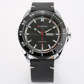 Ericdress Quartz PU Round Watch