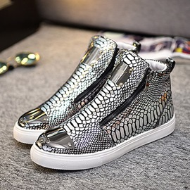 Ericdress Sequin Serpentine Zipper High-Cut Men's Trainers