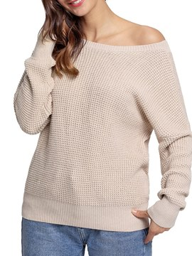 Ericdress Loose Plain Casual Pullover Long Sleeves Knitwear