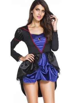 Ericdress Halloween Color Block Women's Dress