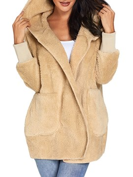 Ericdress Hooded Mid-Length Loose Knitwear