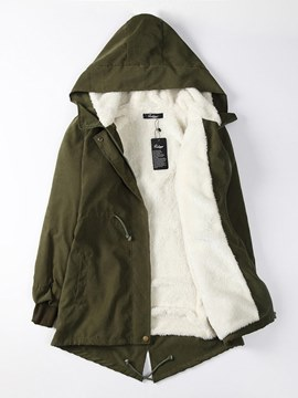 Ericdress Casual Zipper Loose Hooded Coat