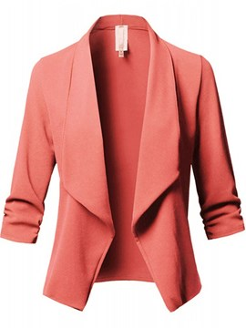 Ericdress Plain Long Sleeve Standard Regular Casual Blazer