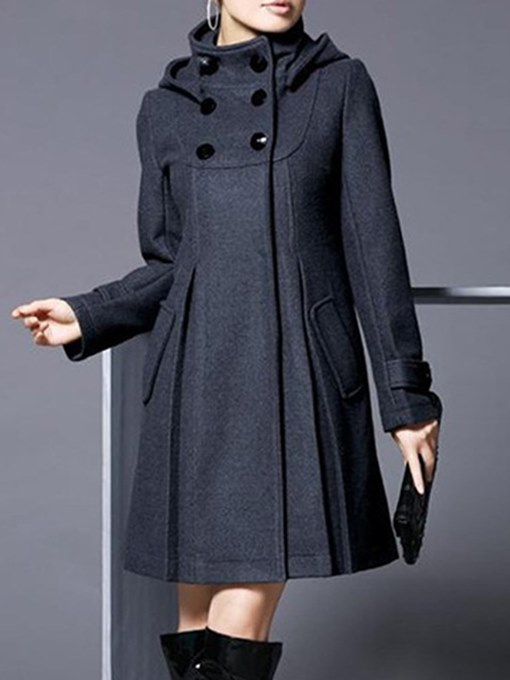 Ericdress Cape Double-Breasted Plain Long Sleeves Coat