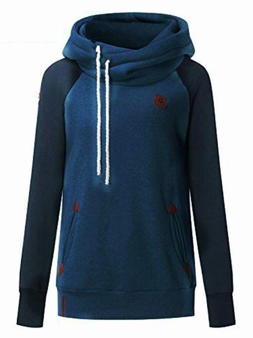 Ericdress Slim Pocket Color Block Cool Hoodie