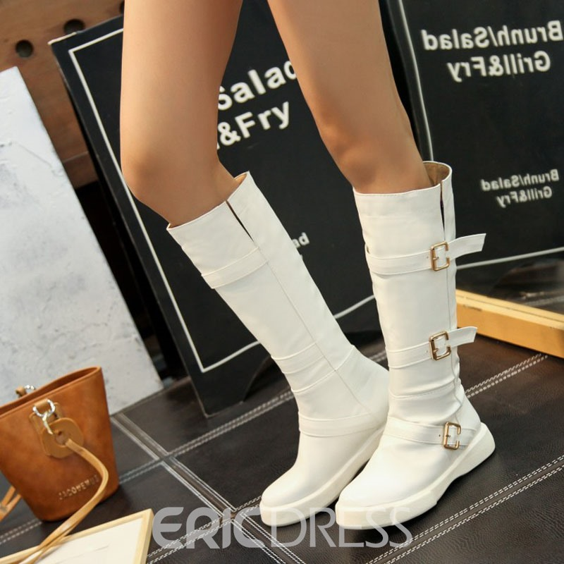 Ericdress Plain Round Toe Women's Knee High Boots