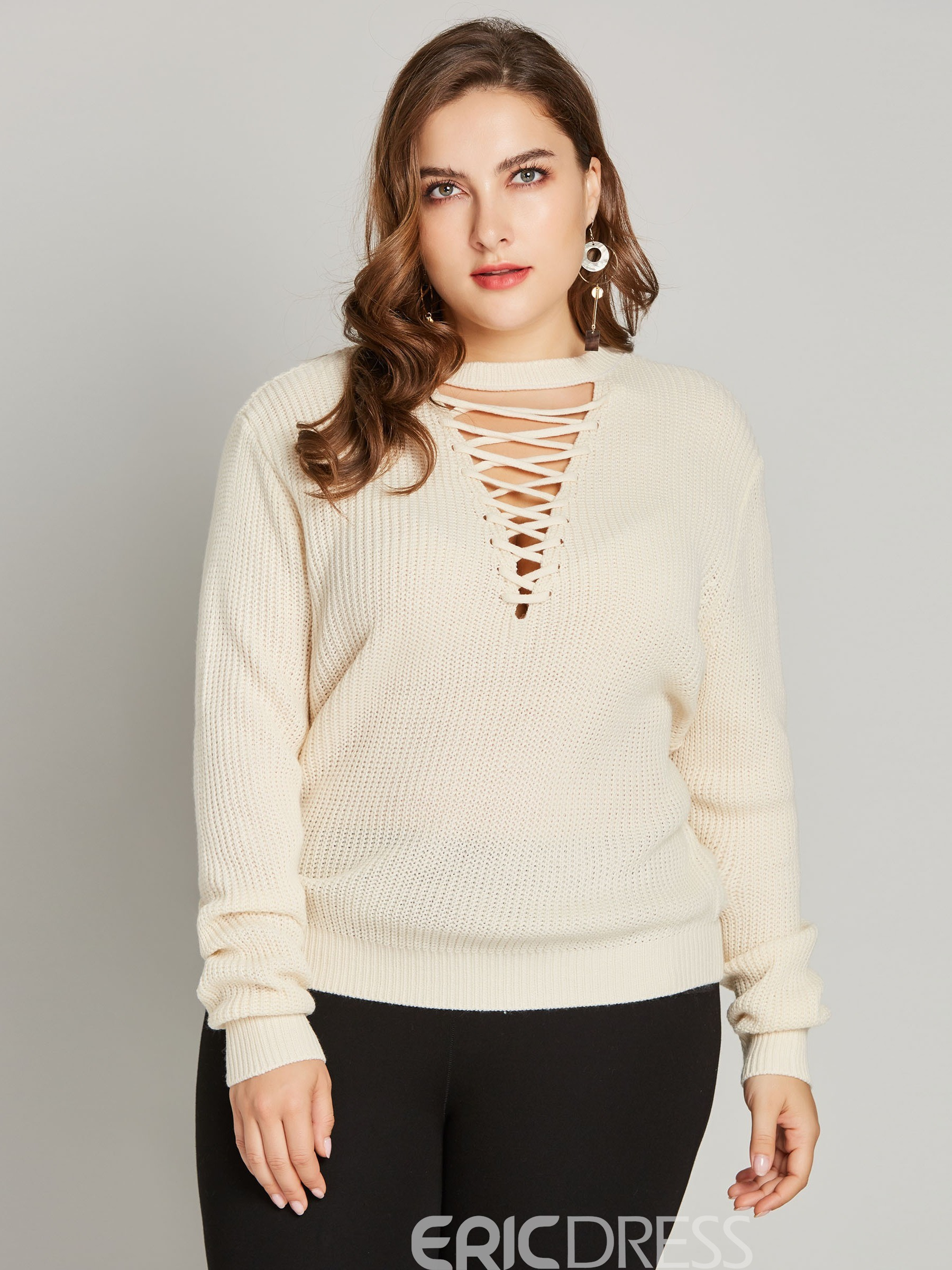 ericdress hollow fall sweater recto