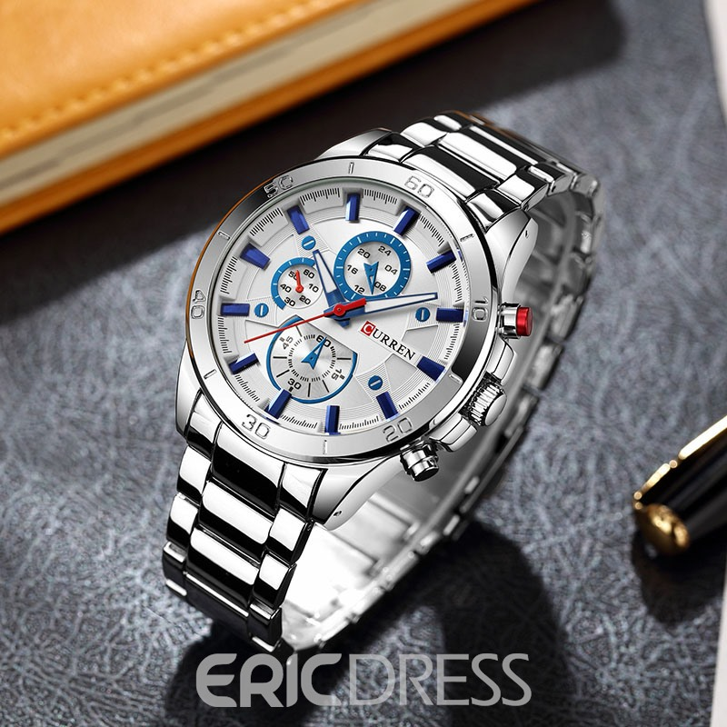 Ericdress Steel Belt Men's Watch