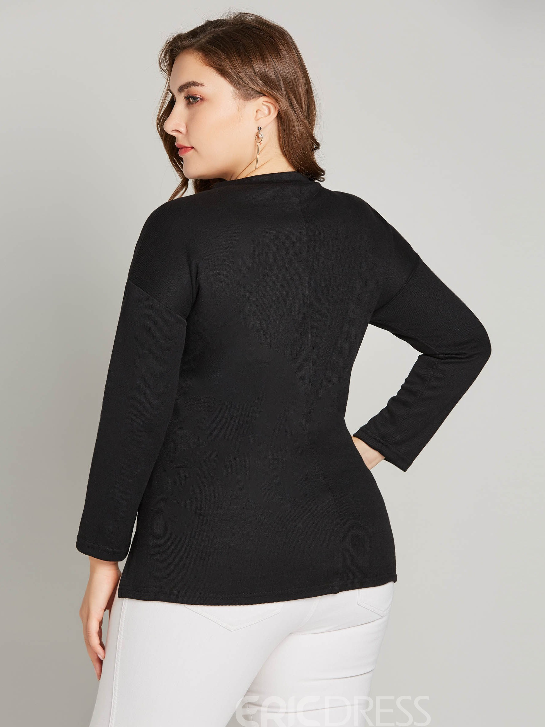Ericdress Beading Plus Size Casual Knitwear