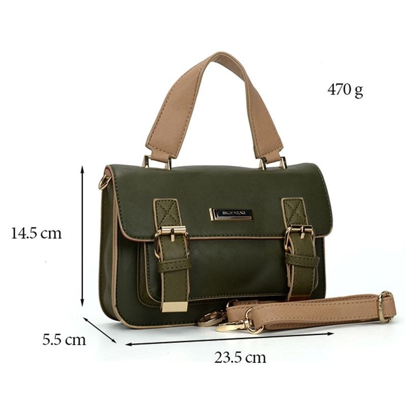 Modern Casual Belt Decorated Women Tote Bag