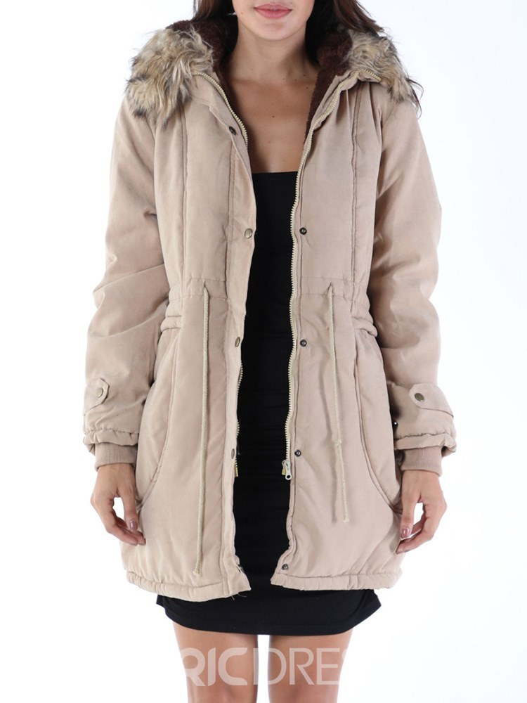 Ericdress Casual Loose Thick Zipper Coat