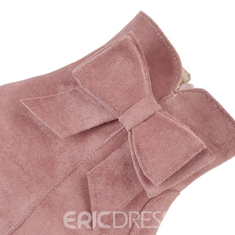 Ericdress Bowknot Side Zipper Hidden Elevator Heel Snow Boots