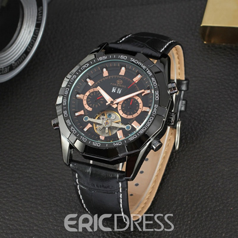 Ericdress Leather Men Watch