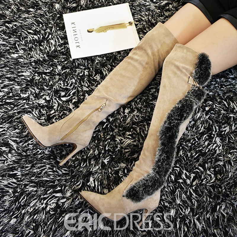 Ericdress Plain Stiletto Heel Over The Knee Boots