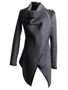 Ericdress Mid-Length Cowl Neck Long Sleeves Jacket