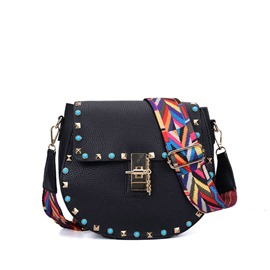 Ericdress Rivet Lock Chain Women Crossbody Bag