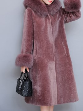 Ericdress Loose Fleece Long A Line Coat