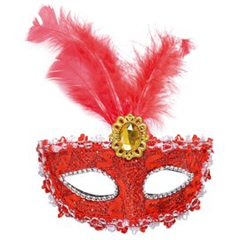 ericdress Halloween-Edelsteine ​​Feder-Party-Maske